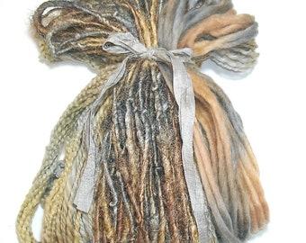 50YD. NOSTALGIA  Hand Dyed  Mixed Media Fiber Bundle/Book Binding/Fiber Art/Jewelry/Weaving/Boho Fiber Dream Catchers & Inspired Wall Decor