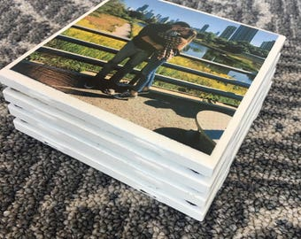 CUSTOM PHOTO COASTERS - tile coasters, photo coasters, custom coasters, christmas gifts, wedding gifts, engagement gifts, personalized gifts