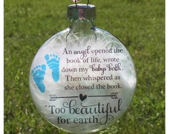Baby memorial ornament - Miscarriage keepsake - Baby loss ornament - Angel baby ornament - Child in heaven - Pregnancy loss - Stillborn