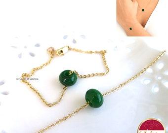 Dainty Jadeite Eternity Necklace and Bracelet