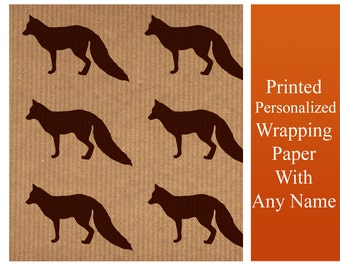 Fox - Kraft Paper Wrapping Gift Paper Present Wrap Sheet