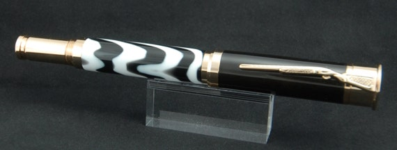 Rifle/ Shotgun Combo Pen in Zebra Stripes and 24k Gold