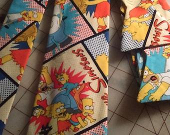 Simpsons Comic Neckties in bow tie, skinny tie, and standard tie styles, kids or adult sizes