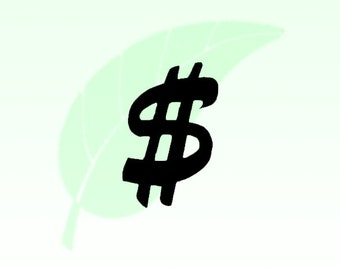 Dollar Sign Decal Sticker 100