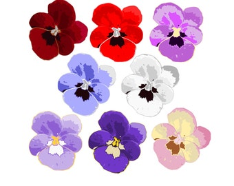 pansy clip art etsy rh etsy com Pansy Flower pansy drawing clipart