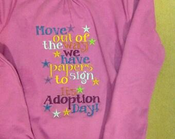 Adoption day shirt girl or boys