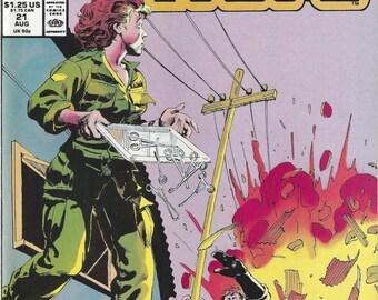 The Nam #21 Vintage Marvel Comic Book, C1988