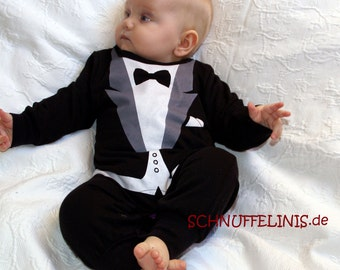 tuxedo onesie - New Year eve outfit, Party outfit, Baby 1st birthday outfit, Christmas outfit, infant wedding tuxedo outfitd