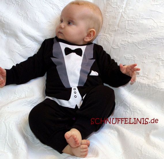 tuxedo onesie New Year eve outfit Party outfit Baby 1st