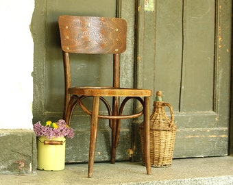 Bentwood Dining Chair - Mid Cenury Farmhouse Chair - Thonet Chair - Bentwood Furniture - Vintage Furniture - French Bistro Style