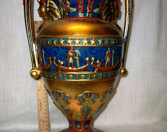 Listing 254 is an egyptian style veronese vase from 2002 summit