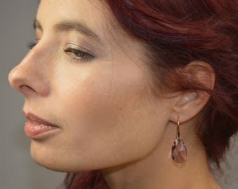 These earrings honor bridesmaids rose gold