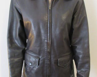 Womens Black 'Coach' Leather Jacket - Size Small - LOVELY!!