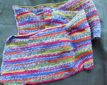 Handmade Boho Colorful crochet scarf