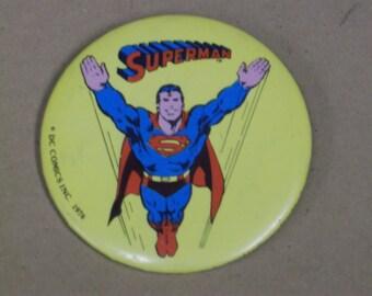 "Vintage 1976 ""Superman"" Pin, DC Comics Inc."