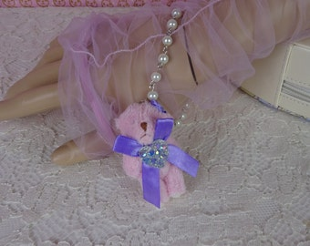 Magical Girl Fairy Kei Purple Prism Heart Pink Kawaii Bear Bracelet