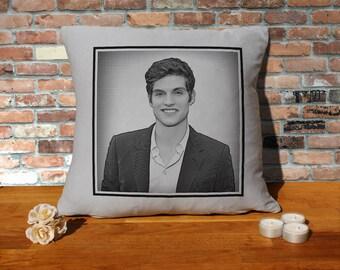 Daniel Sharman Pillow Cushion - 16x16in - Grey