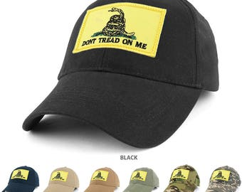 Dont Tread on Me, Gadsden Snake Embroidered Tactical Patch with Adjustable Operator Cap (EC-73461-GADSDN)