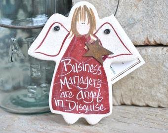 Business Manager Appreciation Gift Salt Dough Thank You Custom Ornament