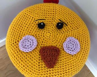 Chicken stool cover crochet pattern