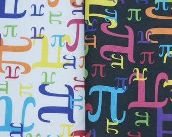Pieces of Pi Cotton Math Fabric Fat Quarter