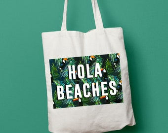 Hola Beaches Beach Summer tote bag