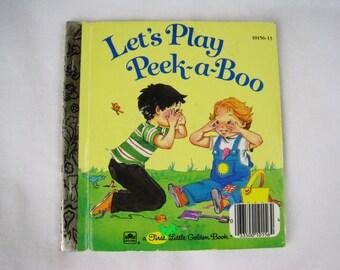 Let's Play Peek-a-Boo – Vintage Children's A First Little Golden Book – 10156-13