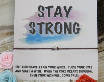 CUSTOMIZE your words WISH bracelet - keepsake, message card gift, friend, best, stay strong, you got this, motivational, encouragement, star