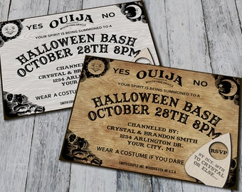 Ouija Board Halloween Party Invitations (Digital)