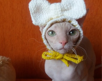 Cat Hat, Knitted and crochet Hat for Cat, cat costume, Dog Costume, Dog Hat, Hat for Dog, Party Hat