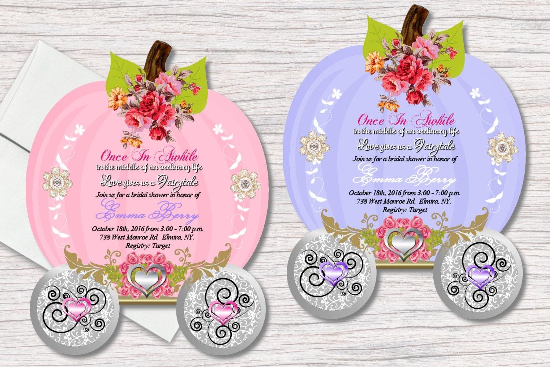 Fairytale bridal shower invitations die cut wedding zoom monicamarmolfo Gallery
