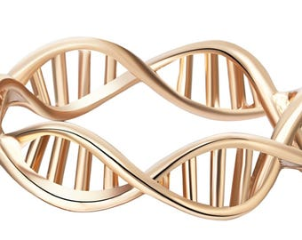 Double Helix Ring~ DNA Strand~ Infinity Band~ Gold~ Silver~ Gift for Nurse~ Doctor~ Medical Student~ Scientist~ Gift Box Included