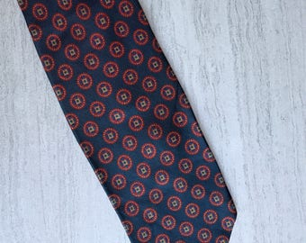 """Brooks Brothers """"346"""" Navy Blue Detailed Men's Tie"""