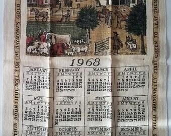 1968 Linen Dish Towel