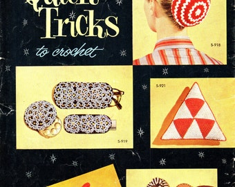 QUICK TRICKS To CROCHET Coats & Clark Book 326 Tatting 1950s