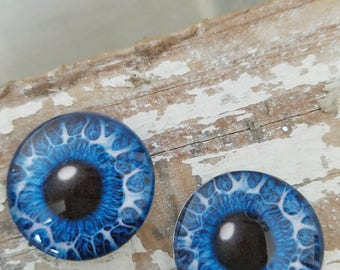25 mm eyeballs glass eye cabochon animal eyes dark blue reptile eyes glass doll eyes glass dome eyes flat back glass round cabochon charm