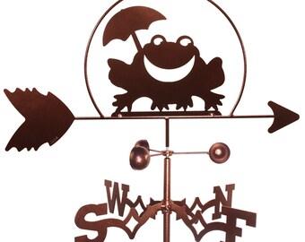 Handgemachte Frosch Kröte Wetterfahne neu