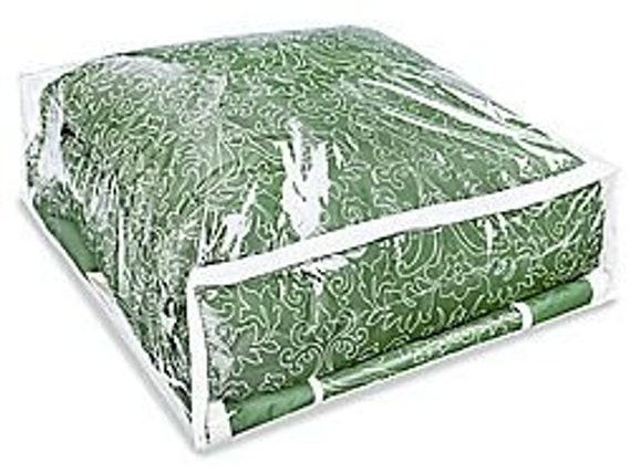 Clear Vinyl Zippered Storage Bags For Larger Blankets
