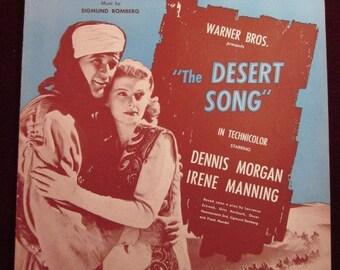 """Vintage 1926 """"The Desrt Song"""" Sheet Music"""