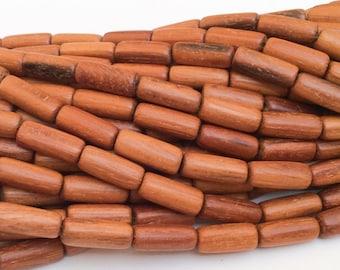 Tube Bayong Wood Beads, Natural wood beads, 7x13mm