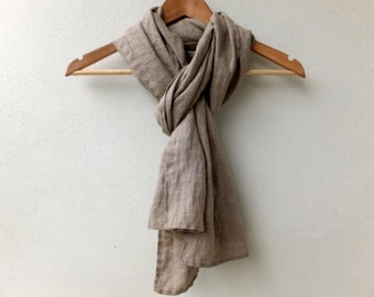 pure linen scarf for women and men