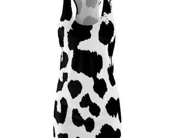 WomenS Cut  Sew Racerback Dress Leopard