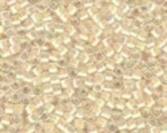 MIYUKI #11 Delica 0052 - Cream Lined Crystal AB - 5 grams