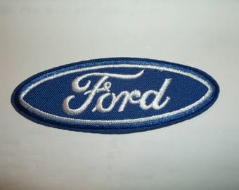 Ford Motors Motor Company Blue Oval Patch~Badge~Mechanics~ (3 5/8 x 1 5/16)~Embroidered Applique~Iron Sew On~US Seller~FREE US Mail~Intl +