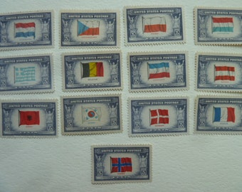 Unused Postage Stamps - Vintage 5 Cent U.S. Postage Stamps