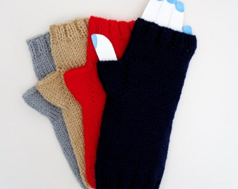 Knitted Hand Warmers, Fingerless Gloves, Hand Knit Mittens, Winter Accessories, Gents WristWarmers, Ladies Winter Gloves, Arm Warmers,