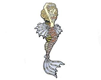 Lionfish Mermaid Enamel Pin