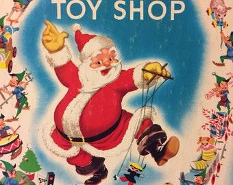 Santa's Toy Shop Vintage Children's Book Reading for Children Walt Disney's