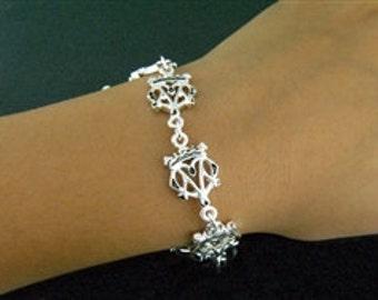 Pewter Petite Luckenbooth Bracelet (#JPEW6069)