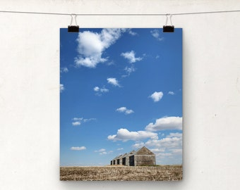 Cloudy Blue Sky, Country Photography, Rural Alberta Canada, Rustic